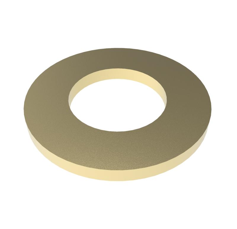 Arandela Diametro interior 2.05mm, Espesor 0.30mm, Tipo normal   Se venden en lotes indivisibles de 30 unidades