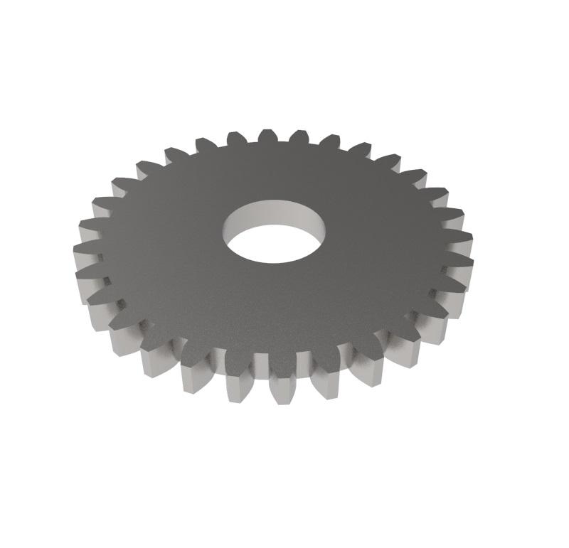Engranaje de metal Módulo 0.750, Dientes 30Z, Forma recto