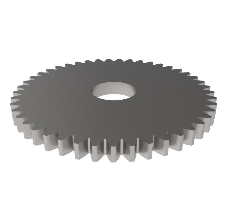 Engranaje de metal Módulo 0.600, Dientes 45Z, Forma