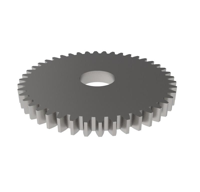 Engranaje de metal Módulo 0.750, Dientes 44Z, Forma