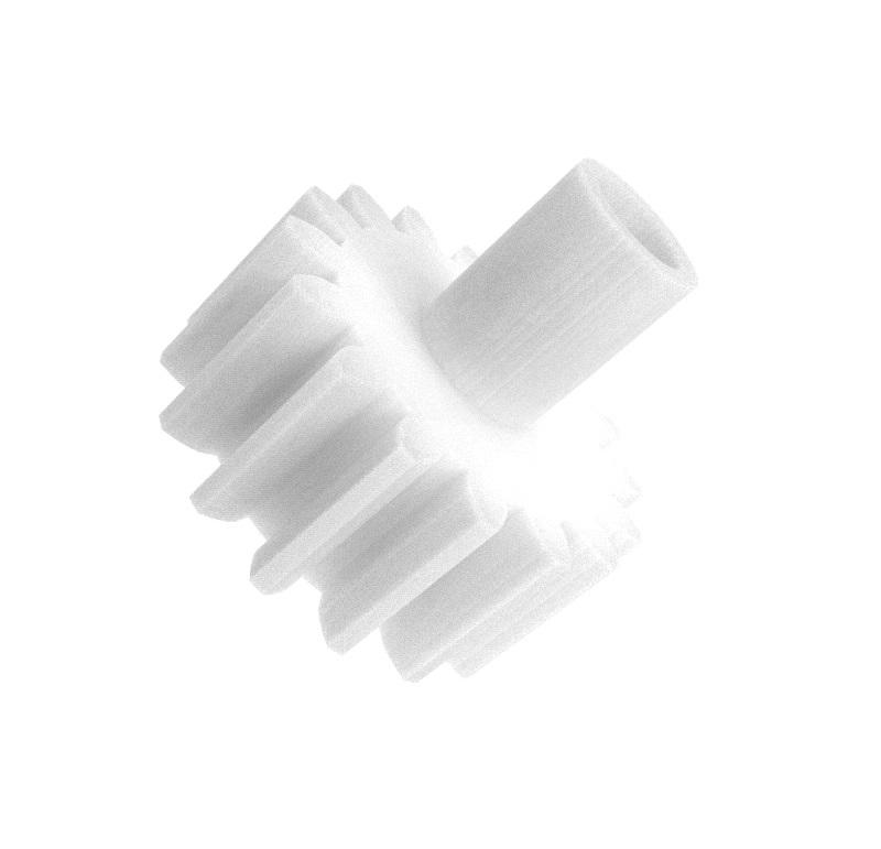 Piñón de plástico Módulo 0.500, Dientes 16Z, Forma recto