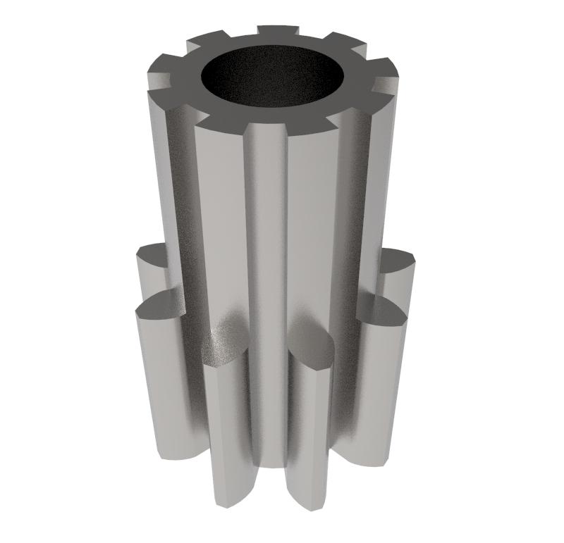 Piñón de metal Módulo 0,500, Dientes 9Z, Forma recto