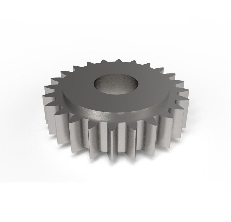 Engranaje de metal Módulo 0.500, Dientes 24Z, Forma