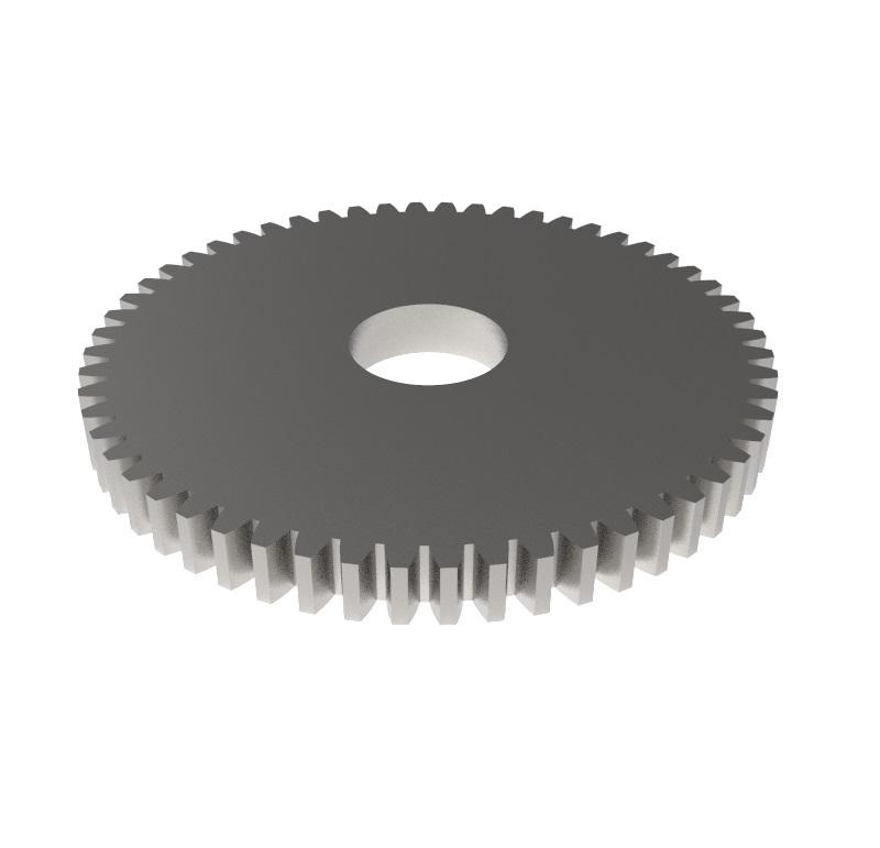 Engranaje de metal Módulo 0.600, Dientes 56Z, Forma