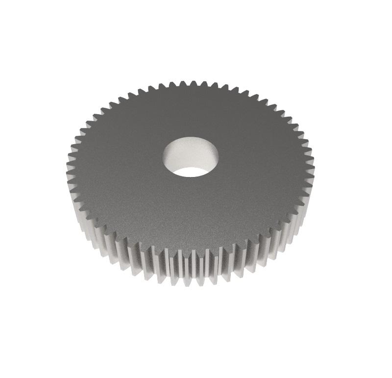 Engranaje de metal Módulo 0.700, Dientes 60Z, Forma