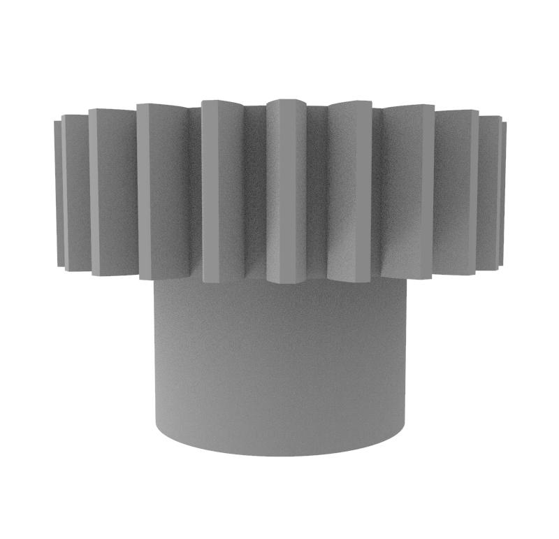 Engranaje de plástico Módulo 0.500, Dientes 24Z, Forma con bulon