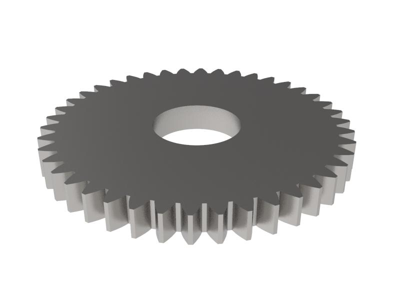 Engranaje de metal Módulo 0.500, Dientes 42Z, Forma recto