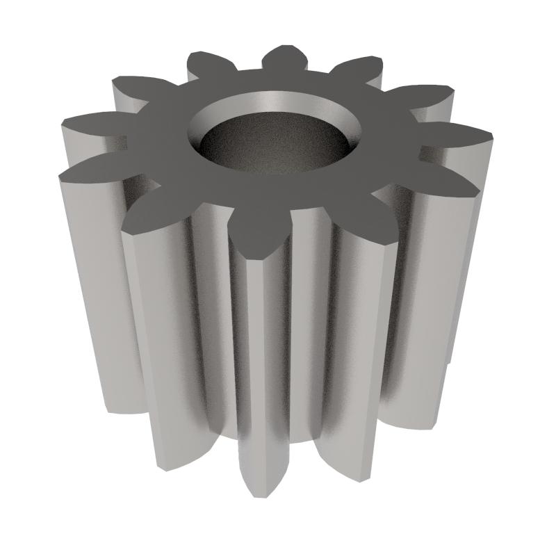Piñón de metal Módulo 0.400, Dientes 12Z, Forma recto