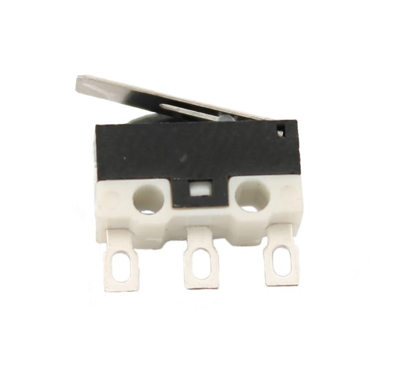 Microinterruptor D2F-LA1, Pulsador de palanca, conectores sin soldadura