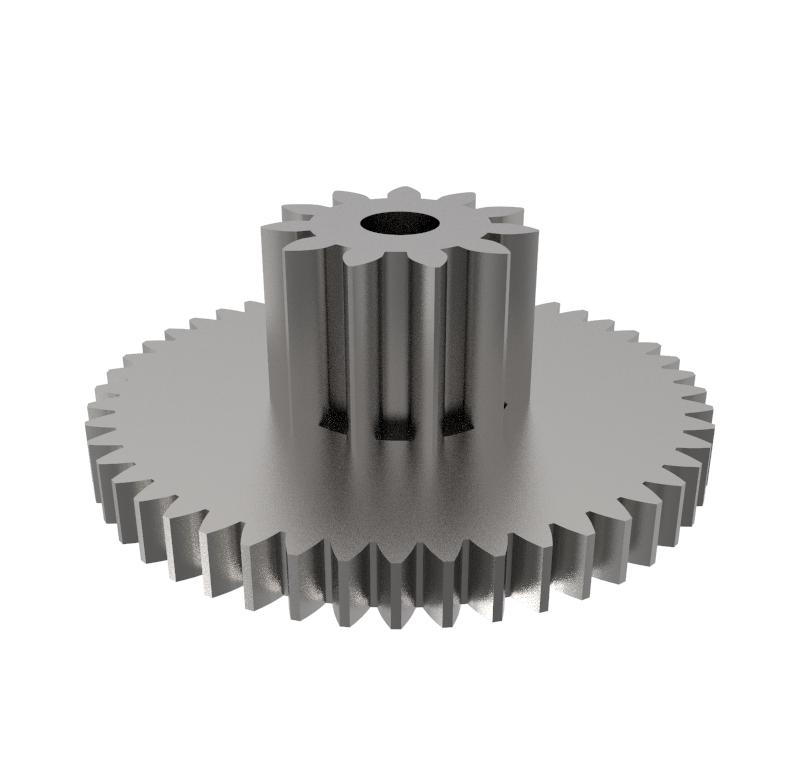 Engranaje de metal Módulo 0.500, Dientes 48Z, Forma con piñón