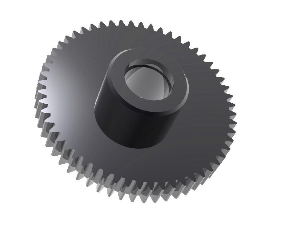 Engranaje de metal Módulo 0.600, Dientes 56Z, Forma bulón