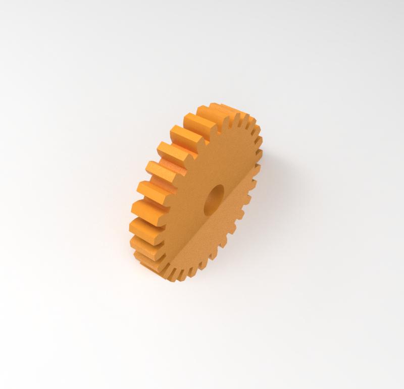 Engranaje de plástico Módulo 0.300, Dientes 28Z, Forma