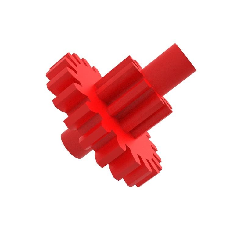 Engranaje de plástico Módulo 0.300, Dientes 21Z, Forma con piñon