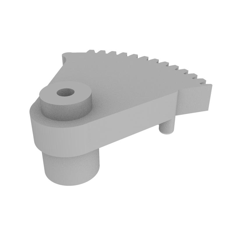 Engranaje de plástico Módulo 0.600, Dientes 64Z, Forma