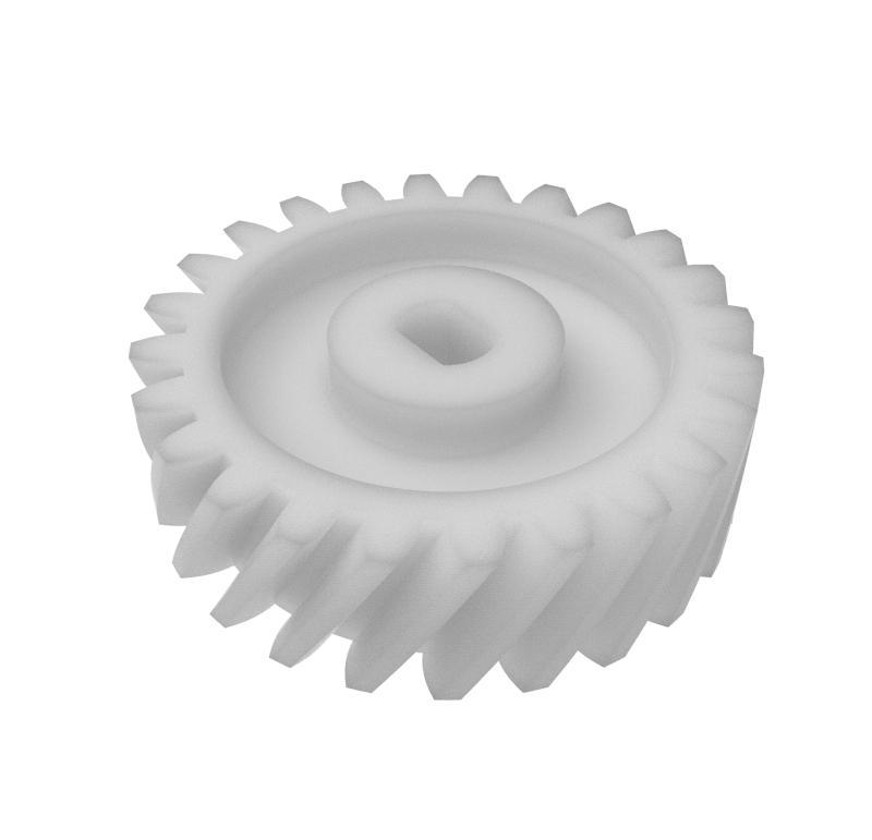 Engranaje de plástico Módulo 0.700, Dientes 24Z, Forma helicoidal
