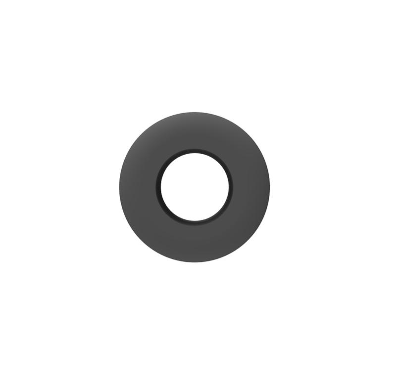Pasacables Ø12mm x Ø6mm x 9.5mm
