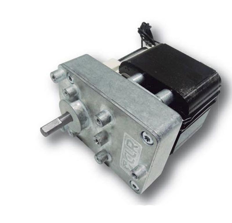 Reductor engranaje recto. Eje salida de acero Rodamiento a la salida: rodamiento de bolas. Máxima carga radial a 10 mm de la brida: 130 N. Máxima carga axial admisible: 80 N. Material engranajes y eje de salida: Acero. Rodadura de engranajes sobre ejes de acero templados y rectificados Caja y tapa: Zamak Par de utilización hasta 4  N•m. PLAZO DE ENTREGA MÁXIMO: 2/3 semanas.Se confirmará a la recepción del pedido.
