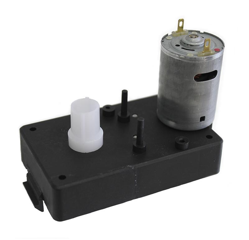 Motorreductor de corriente continua para las máquinas expendedoras. Simple acoplamiento, permite un montaje rápido del motorreductor. El motorreductor se compone de un motor DC y de una caja de PA6+30GF. Los engranajes de la reducción se realizan en resina acetálica. Unidad estándar de acoplamiento del eje cuadrado 6,5 x 6,5 mm. Par de utilización hasta 1 N • m  PLAZO DE ENTREGA MÁXIMO: 3 semanas.Se confirmará a la recepción del pedido.  Los datos marcados en rojo exceden el par máximo de utilización.