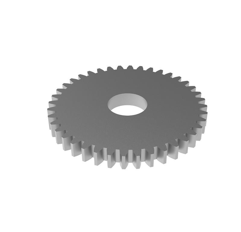 Engranaje de metal Módulo 0.750, Dientes 40Z, Forma