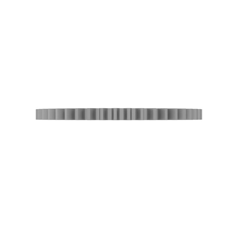 Engranaje de metal Módulo 0.500, Dientes 46Z, Forma