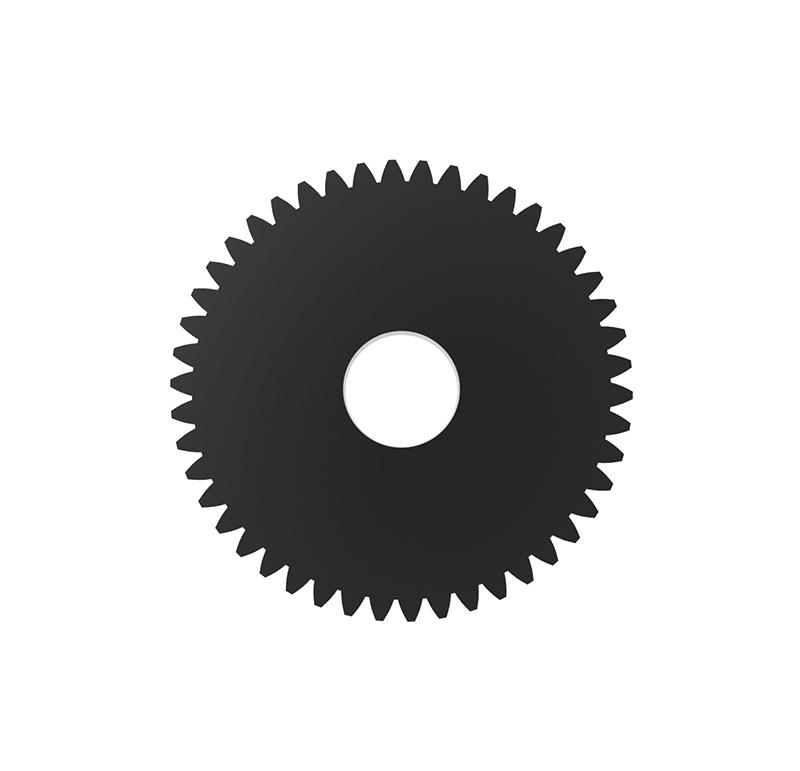 Engranaje de metal Módulo 0.500, Dientes 46Z, Forma con bulon