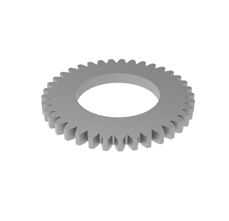 Engranaje de metal Módulo 0.500, Dientes 37Z, Forma