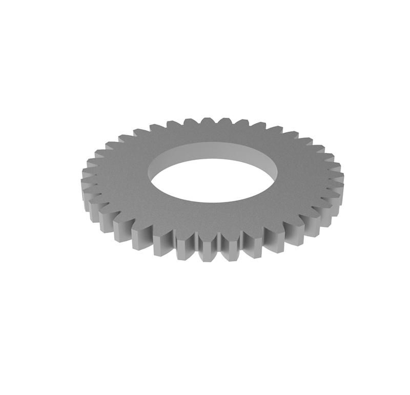 Engranaje de metal Módulo 0.50, Dientes 37Z, Forma recto