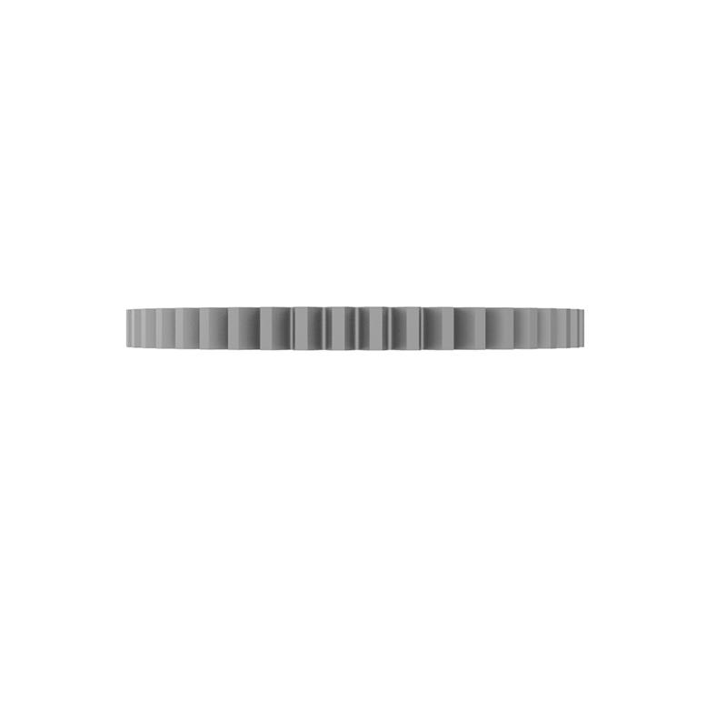 Engranaje de metal Módulo 0.400, Dientes 46Z, Forma