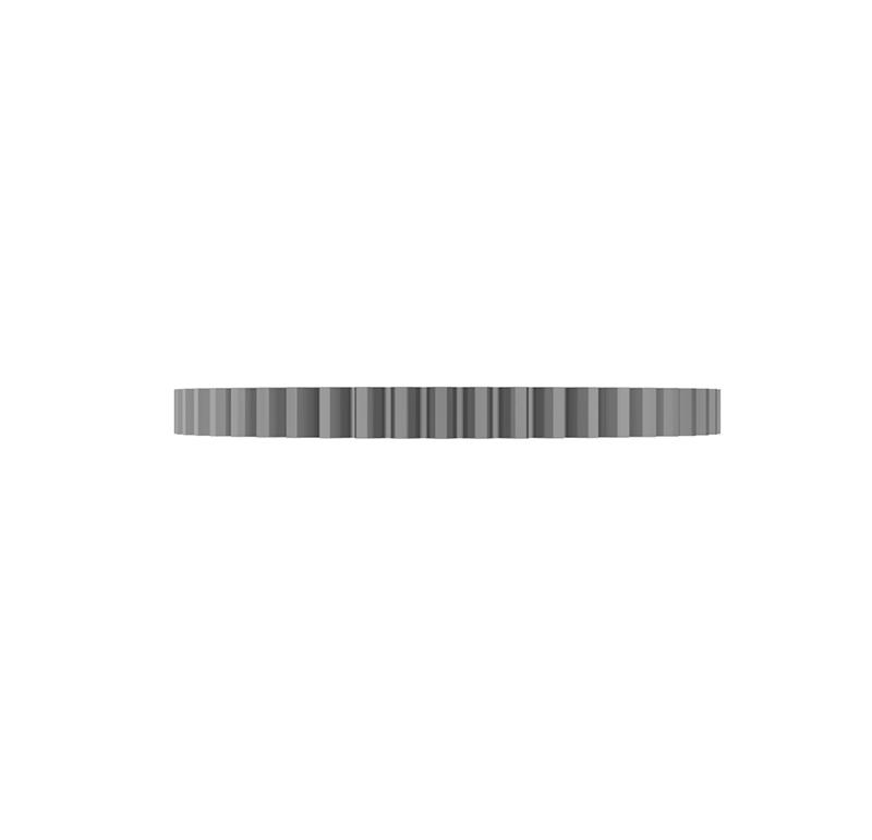 Engranaje de metal Módulo 0.600, Dientes 51Z, Forma