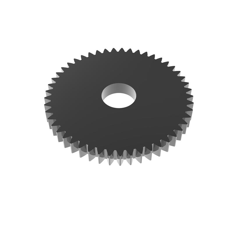 Engranaje de metal Módulo 0.50, Dientes 49Z, Forma recto