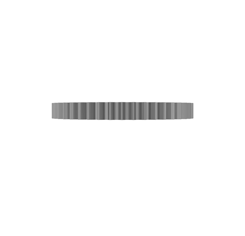 Engranaje de metal Módulo 0.500, Dientes 45Z, Forma