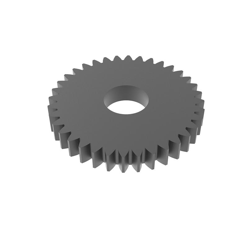 Engranaje de metal Módulo 0.50, Dientes 36Z, Forma recto