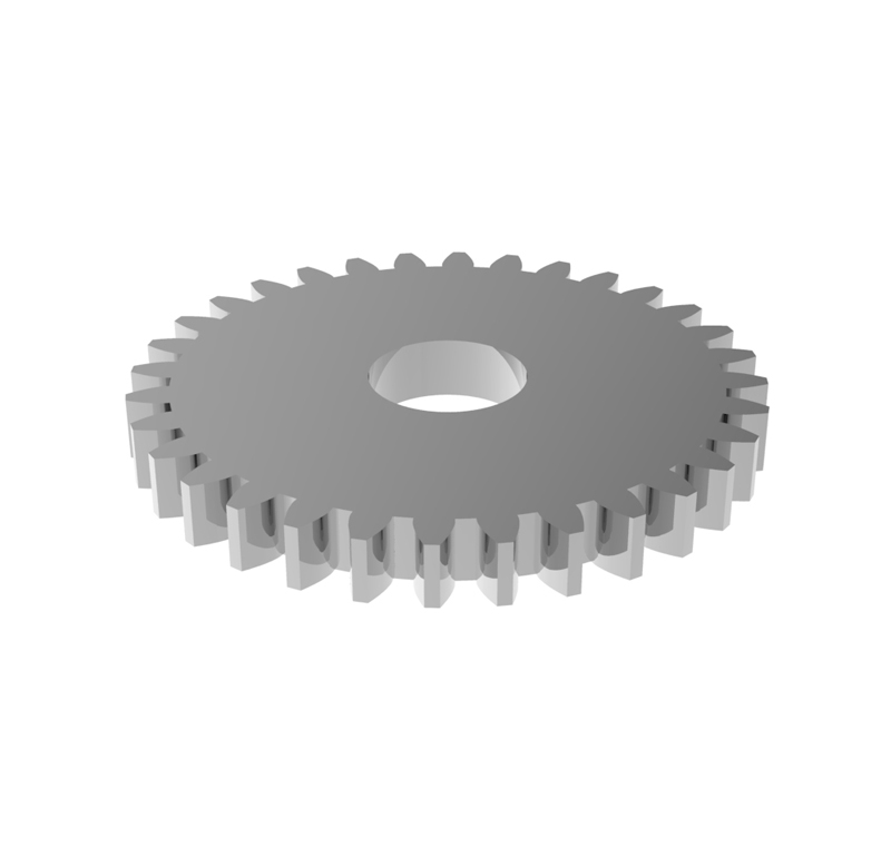 Engranaje de metal Módulo 1.000, Dientes 32Z, Forma