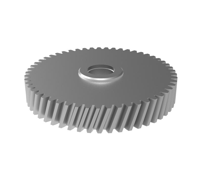 Engranaje de metal Módulo 1.00, Dientes 53Z, Forma helicoidal