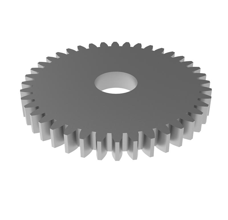 Engranaje de metal Módulo 0.500, Dientes 40Z, Forma