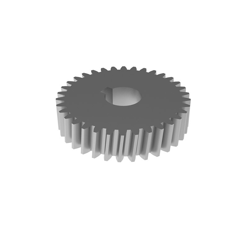 Engranaje de metal Módulo 1.50, Dientes 34Z, Forma helicoidal