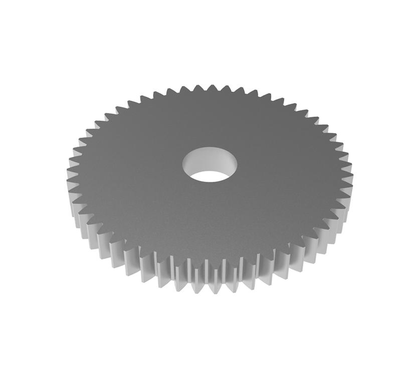 Engranaje de metal Módulo 0.750, Dientes 53Z, Forma