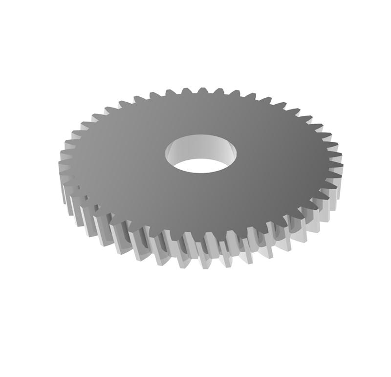 Engranaje de metal Módulo 0.50, Dientes 44Z, Forma helicoidal