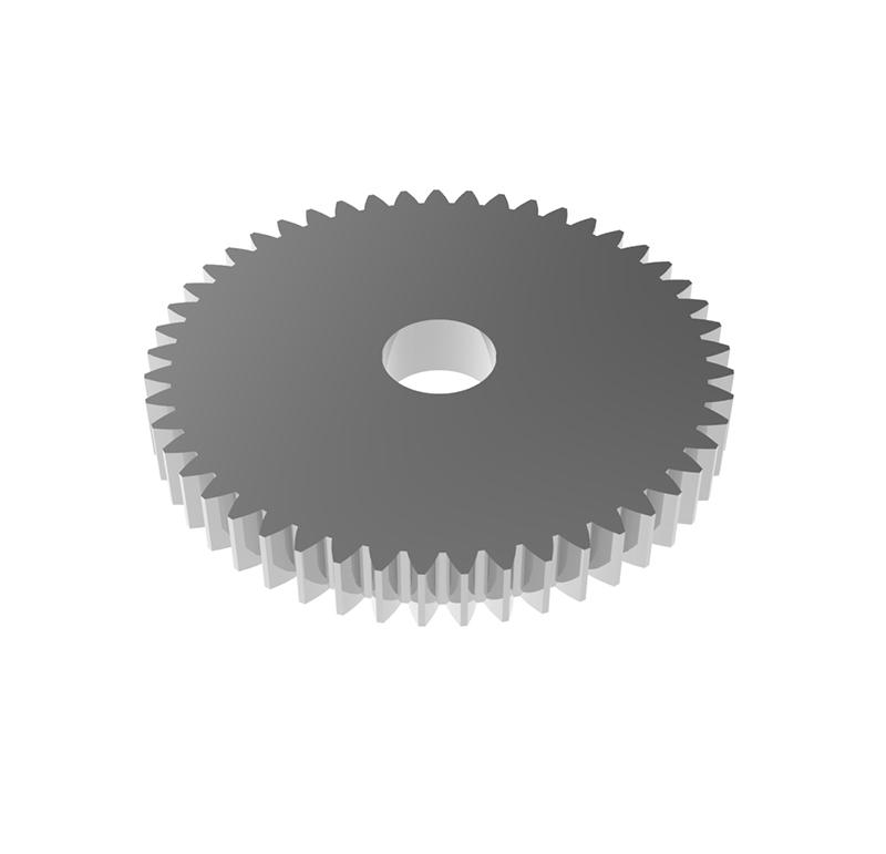 Engranaje de metal Módulo 0.500, Dientes 49Z, Forma
