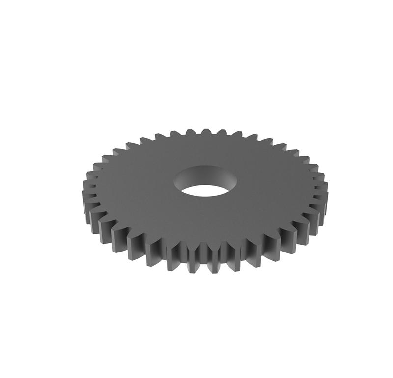 Engranaje de metal Módulo 0.750, Dientes 39Z, Forma con piñon