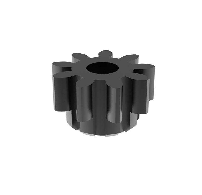 Piñón de metal Módulo 0.600, Dientes 9Z, Forma recto
