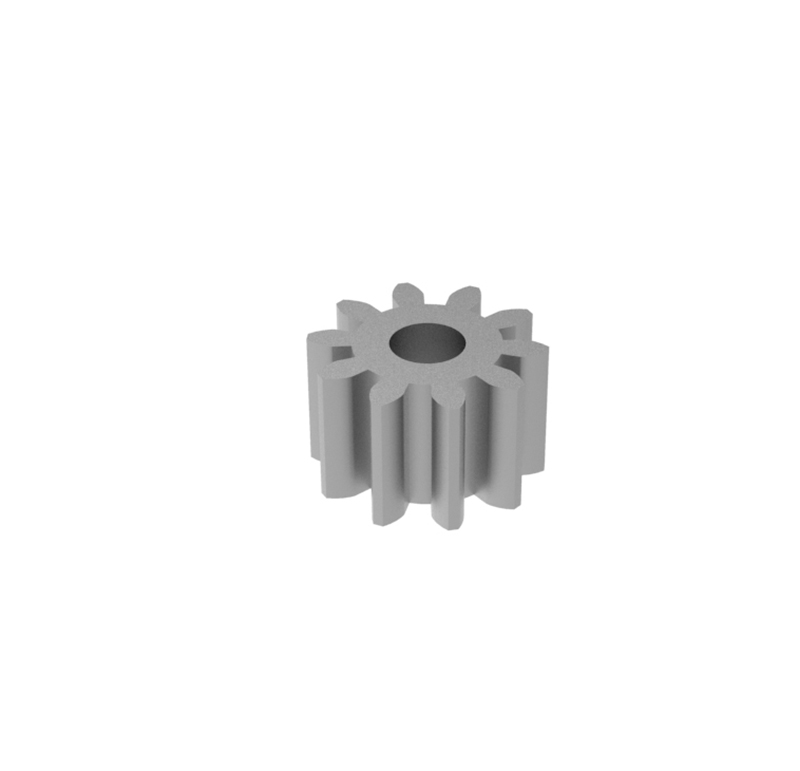 Engranaje de metal  Módulo 0.500, Dientes 10Z, Forma recto