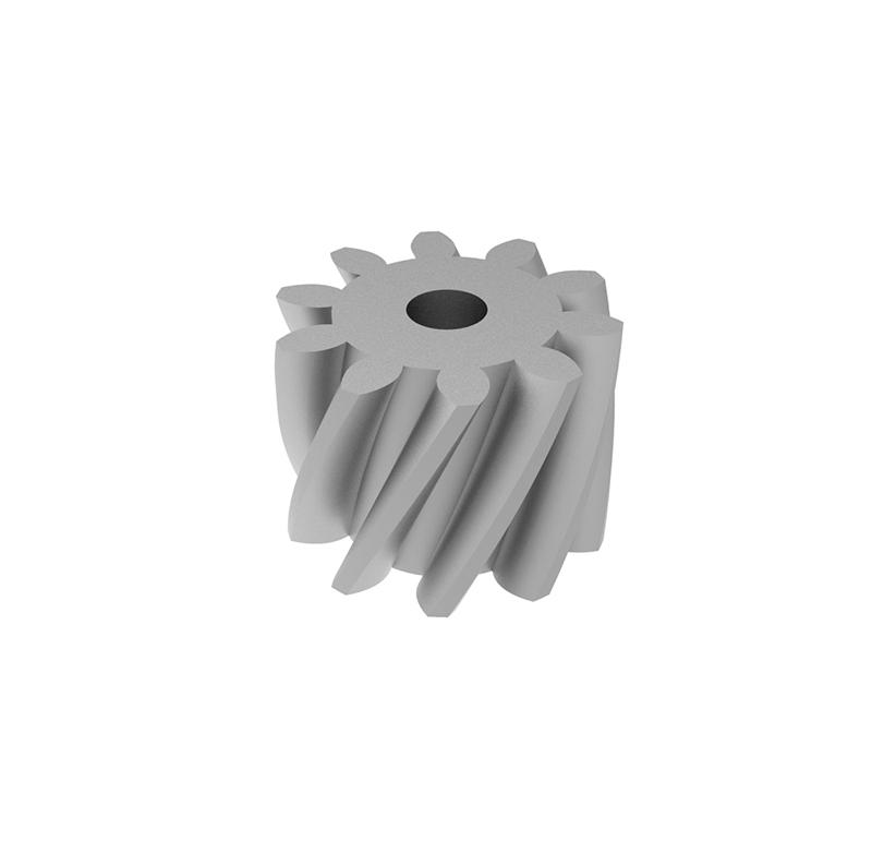 Engranaje de metal  Módulo 0.750, Dientes 10Z, Forma helicoidal