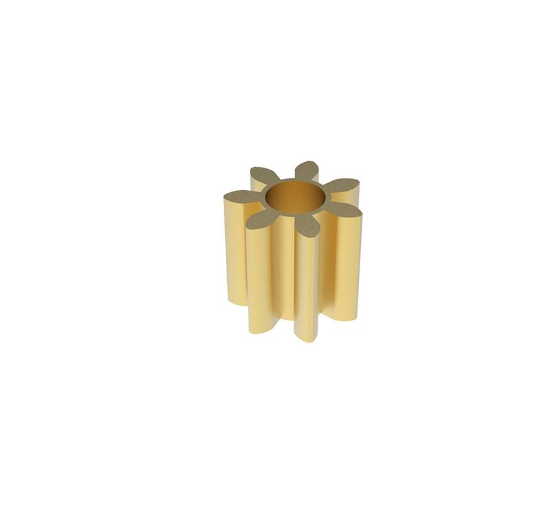 Engranaje de metal  Módulo 0.500, Dientes 7Z, Forma recto