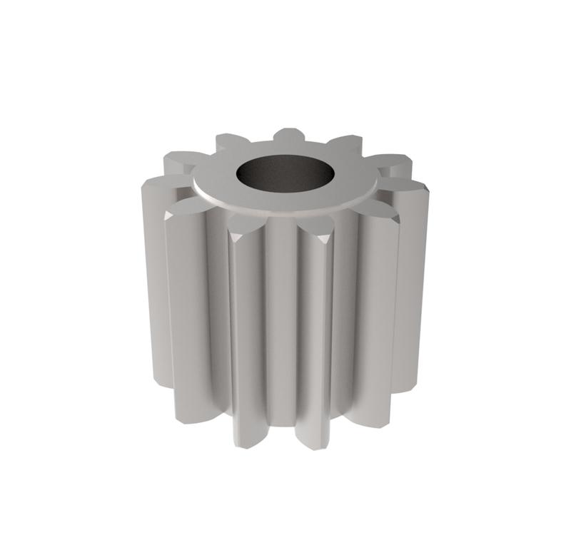 Piñón de metal Módulo 1.750, Dientes 11Z, Forma recto