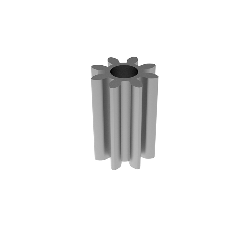 Engranaje de metal  Módulo 0.500, Dientes 8Z, Forma recto