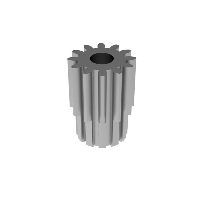 Engranaje de metal  Módulo 1.250, Dientes 12Z, Forma recto