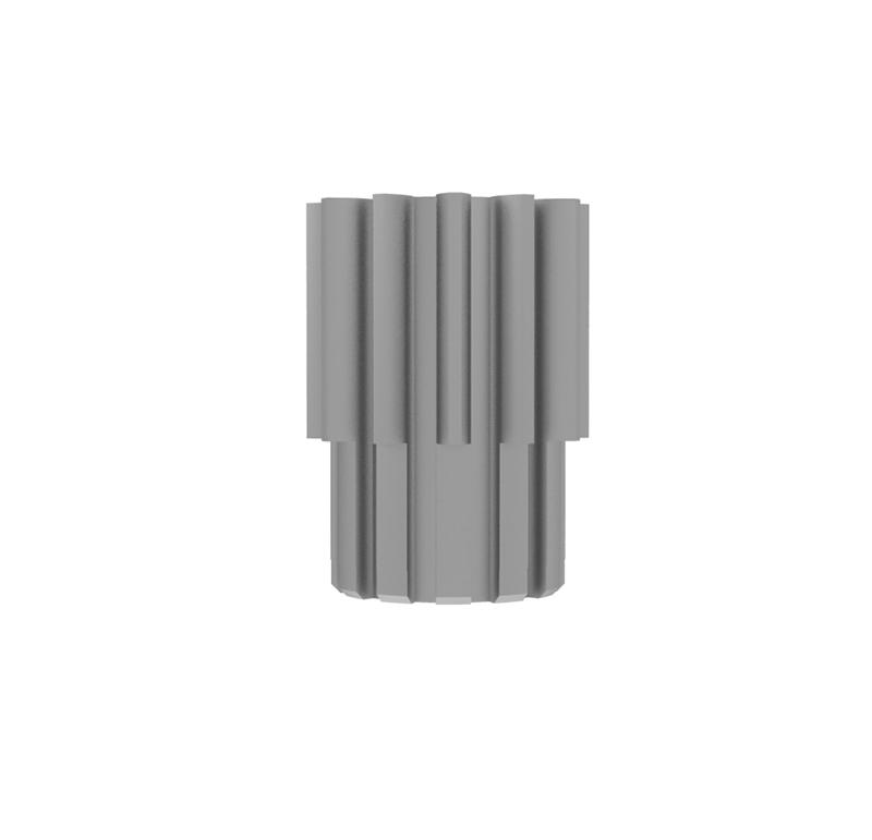 Piñón de metal Módulo 1.250, Dientes 12Z, Forma recto