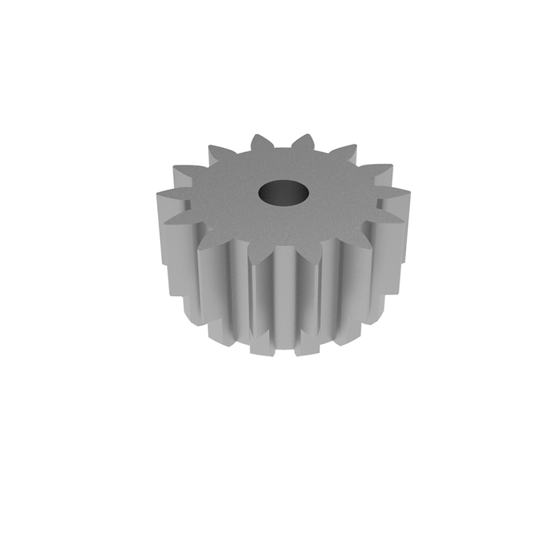 Piñón de metal Módulo 0.750, Dientes 14Z, Forma recto