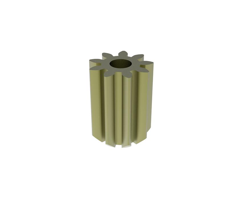 Piñón de metal Módulo 1.000, Dientes 9Z, Forma recto